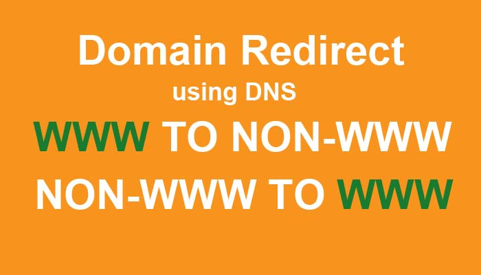 redirect domain using DNS