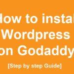 how to install wordpress on godaddy