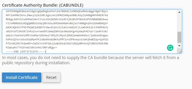 CA bundle
