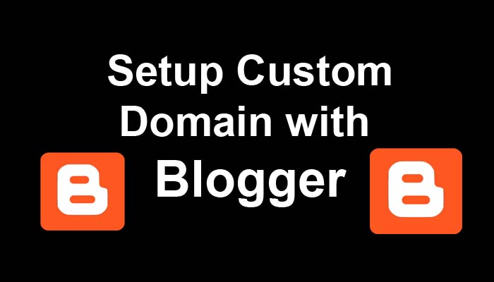 setup custom domain with blogger blogspot