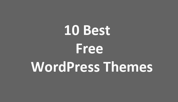 10 best free wordpress themes
