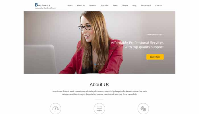 business one page theme