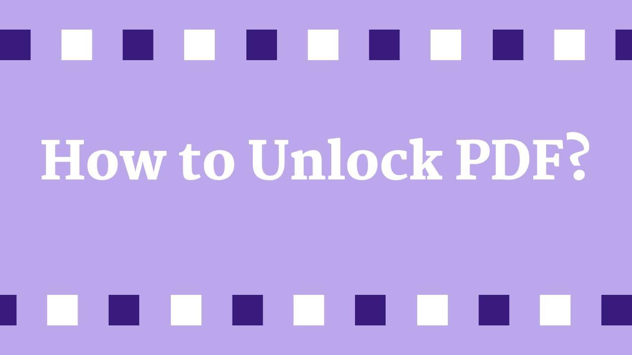 how to unlock pdf